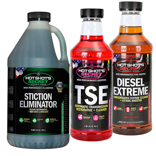 Stiction Eliminator 2 quarts TSE 1 quart Diesel Extreme 1 quart