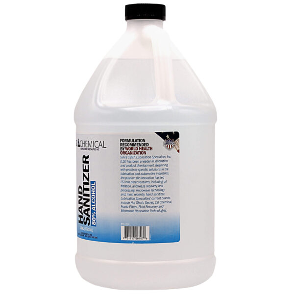 1 Gallon LSI Chemical liquid hand sanitizer side