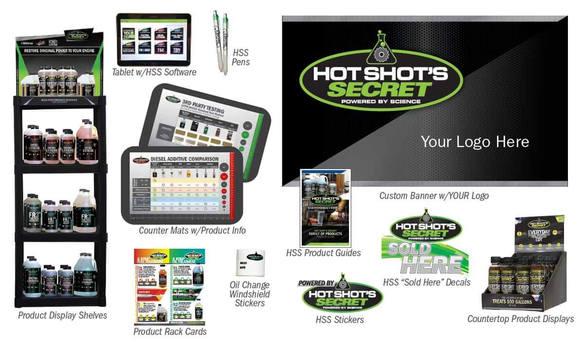 Hot Shot's Secret dealer support products