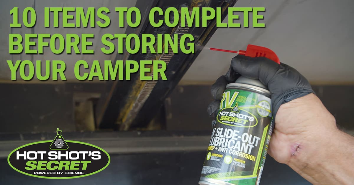 10 Items to Complete Before Storing Your Camper