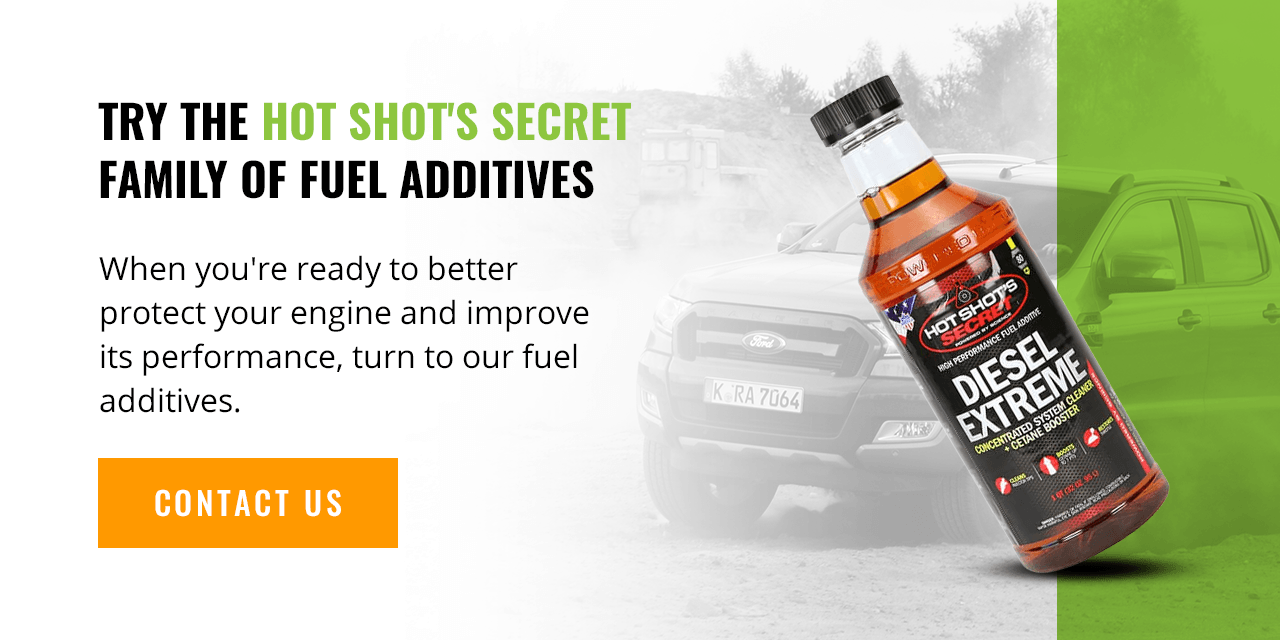 Try the Hot Shot's Secret Family of Fuel Additives